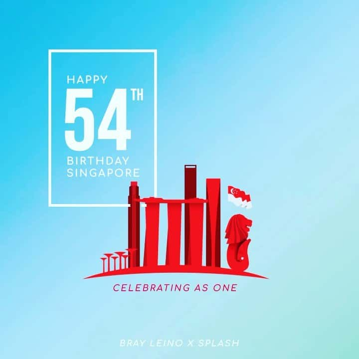 Happy birthday Singapore! -#happynationalday #splashatwork #brayleino